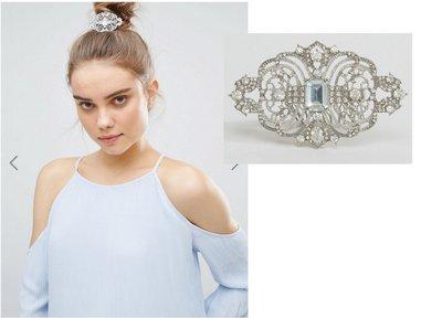 ((嫻嫻屋) 英國潮牌ASOS-Kitsch時尚奢華名媛Baroque Bun Pin梳頭帶髮插-現貨