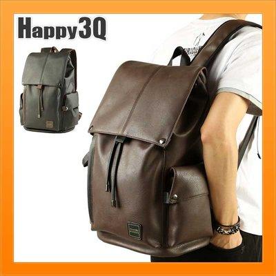 短期旅行出遊出差百搭大容量充電孔電腦包書包後背包雙肩包-棕/黑【AAA1569】預購