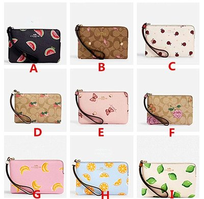 美國 代購新款COACH夏季清新圖案小零錢包時尚手拿包