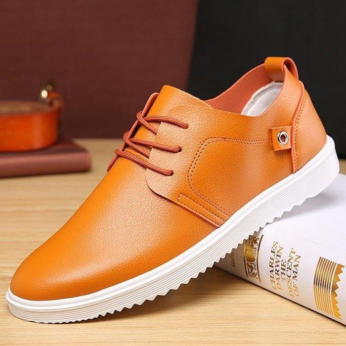 皮鞋秋季潮鞋男鞋子男士休閒鞋英倫休閒皮鞋板鞋正韓青年運動透氣單鞋