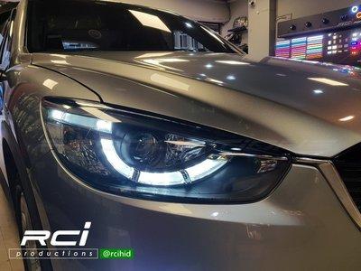 RC HID LED專賣店 MAZDA CX-5 CX5 12-15年 LED DRL 日行燈 導光式樣 魚眼大燈組