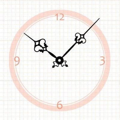 【鐘點站】J085066 SKP機芯專用 造型花針 / 分針85mm 時針66mm / DIY 時鐘 掛鐘 鐘針
