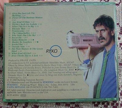 CD~Frank Zappa--Broadway The Hard Way(無封面)...收錄Elvis Has Just Left The Buliding等