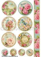 好 館~黏土、蝶古巴特、彩繪、皂模、貼鑽..等DIY材料~DFSA4071棉紙 21X29.74CM 玫瑰