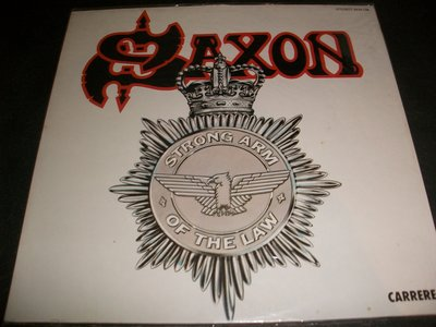 LP黑膠唱片 - SAXON STRONG ARM OF THE LAW/未拆,西德版