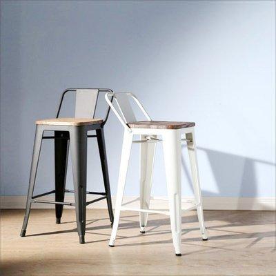 臥室/客廳/電腦/辦公【家具先生】LOFT復古風工業風榆木低背吧台椅 餐椅 椅子 主管椅 I-EB-CH128