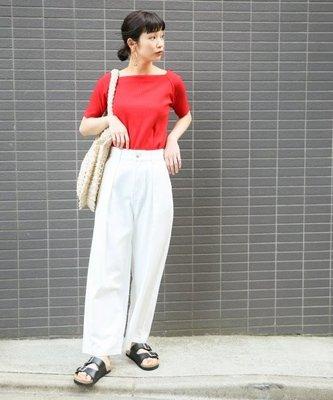 [日本空運 現貨在台] LOWRYS FARM 紅色 羅紋 素色 上衣 M號