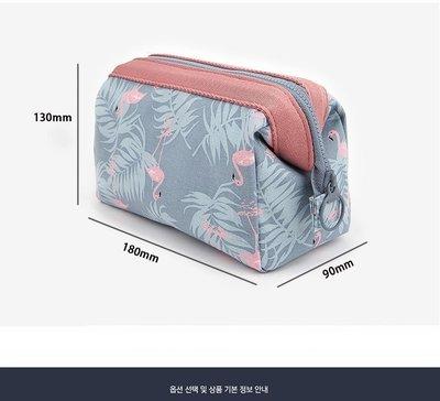 日韓系高 印花鋼架化妝包 韓國 多 立體大容量旅行雜物收納包女式化妝包300