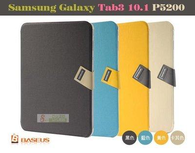 日光通訊@BASEUS原廠 Samsung Tab3 10.1 P5200 倍思信仰超薄硬殼側掀皮套 書本式磁扣側翻保護套