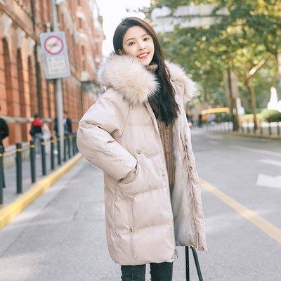 依人韓國專賣店2020新款潮流女裝中長款棉服正韓寬松chic羽絨棉冬季純色外套