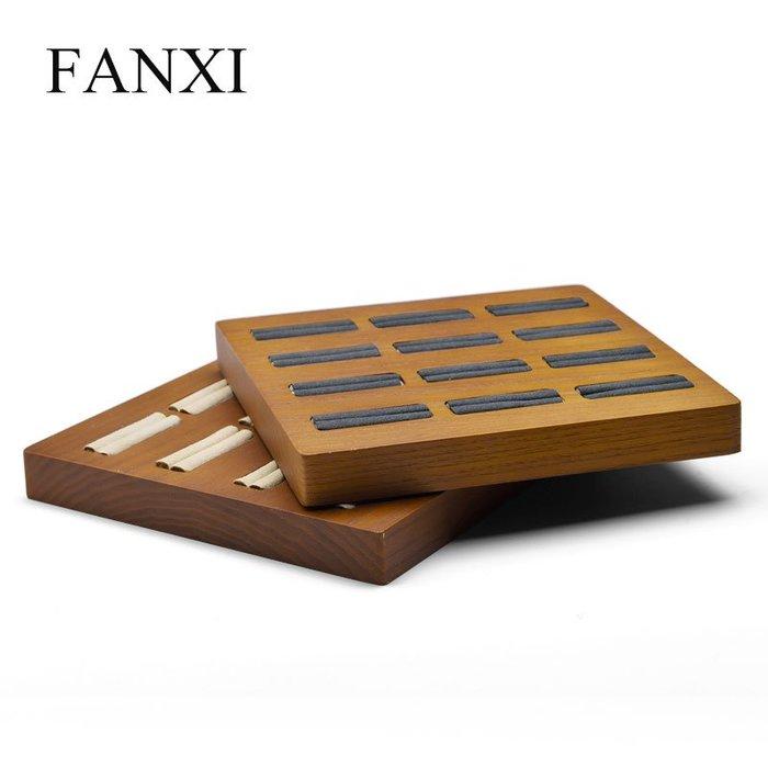 韓國Baby~凡西FANXI新款日韓系列戒指展示盤實木12位戒指首飾托盤展示架