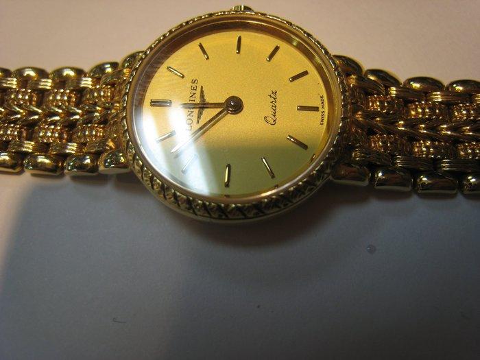 LONGINES 浪琴~1 女鑽錶~難得糊塗 ~賣同行18K金(750) 你比較高就賣給你