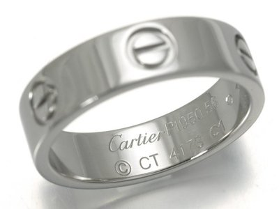 [下標前請先詢問 稀有物件#56] Cartier 卡地亞 LOVE系列 PT950鉑金螺絲戒指