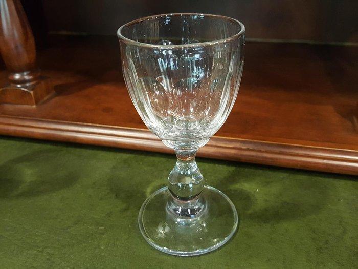 【卡卡頌 歐洲跳蚤市場/歐洲古董 】法國老件_手工雕刻水晶玻璃杯 酒杯 (高11cm) g0299