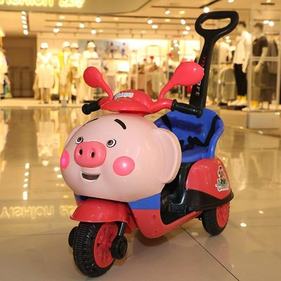 兒童電動摩托車三輪車小孩玩具車合金充電手控制遙控翻斗車手感四#新一的家##小江的店#