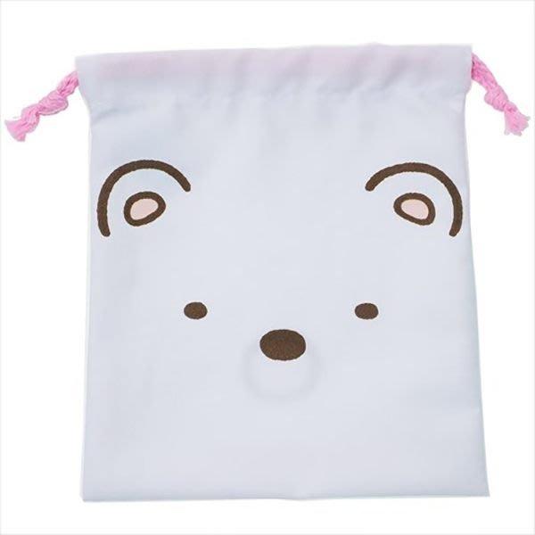 【角落生物束口袋】角落生物 束口袋 收納袋 北極熊 日本正品 該該貝比日本精品 ☆