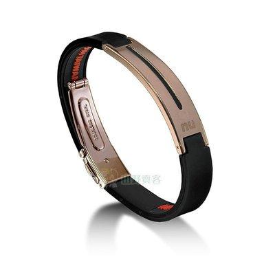 【山野賣客】nu 恩悠 ION鈦鍺能量手環-男款金黑 負離子遠紅外線健康手環 運動手環