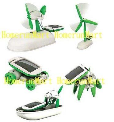 RK1太陽能科學玩具6合1太陽能機器人DIY益智太陽能玩具六合一益智玩具電磁轉換飛機汽車遊艇小狗太陽能組合玩具親子互動