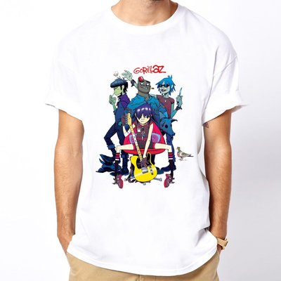 Gorillaz band短袖T恤 白色 rap hip樂團搖滾 美國進口