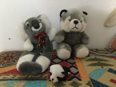 可愛熊 +無尾熊筆袋+小小熊