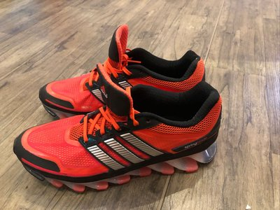 Adidas springblade 彈簧刀鋒鞋 男運動鞋 US10 橘色配銀色