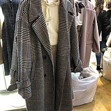 「原價4999 只有四天」 韓國連線 超好看 復古格紋 千鳥紋 落肩翻領大衣