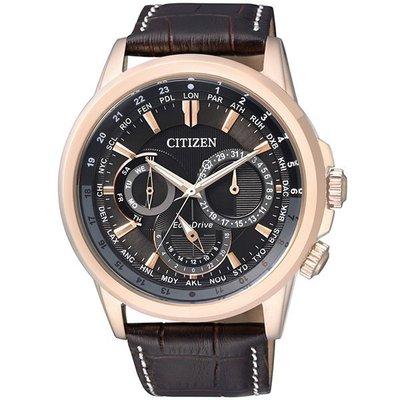 CITIZEN Eco-Drive 三眼光動能腕錶(黑x皮帶/ 44mm) BU2023-12E 新北市