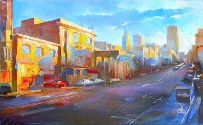 TCP作品【Dream of San Francisco】油畫CE-0013 無框畫 懷舊風格 當代藝術
