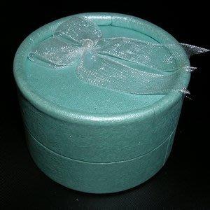 琥珀貓銀飾DIY【包裝材料】A0153~紙質附緞帶圓形首飾盒/戒指盒/耳飾盒/項墜盒~一個