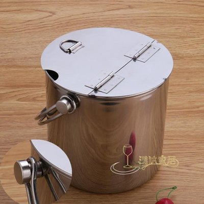 冰桶 加厚不銹鋼手提糖水桶冰桶冰粒桶飲料桶家用翻蓋冷飲桶冰塊桶mks