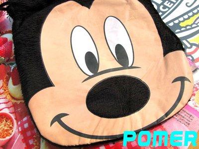 ~POMER~迪士尼 正品已絕版 米奇 米老鼠 MICKEY 鮮艷色彩多 毛料收納袋 束口袋 化妝包 拍立得相機包