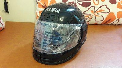 SUPA全新全罩安全帽可交流等值4/3或貼換其他黑色安全帽