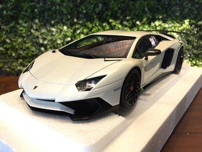 1/18 Autoart Lamborghini Aventador LP750-4 SV White【MGM】
