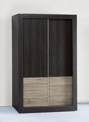 【南洋風休閒傢俱】精選時尚衣櫥 衣櫃 置物櫃 拉門櫃 造型櫃設計櫃-冰川雙色黑天鵝梧桐5*7尺拉門衣櫃 CY44-57