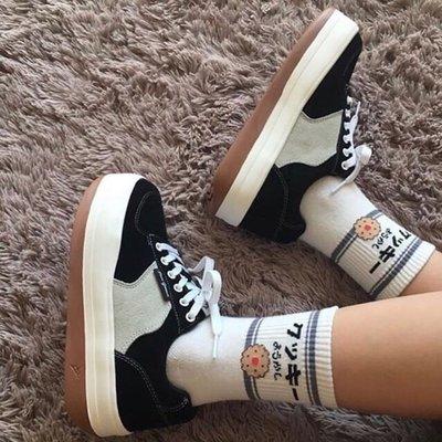 SeyeS  萬年百搭潮流自然風oldschool復古拚色厚底板鞋/運動鞋
