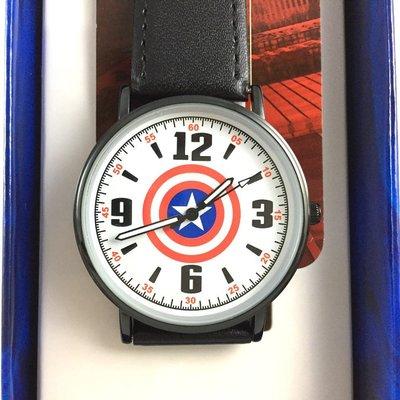 正版原廠 MARVEL 授權 台灣限定製造 曼威英雄 美國隊長 Captain America 手錶 皮帶款 日本機芯