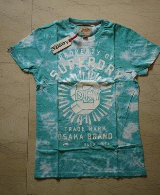 購自英國Superdry極度乾燥Property Of SD T-Shirt男綠色T恤~M、L