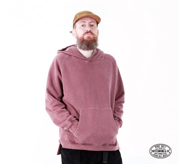 GOODFORIT / 韓國 Outstanding Pigment Dye Hood 碧紋洗舊圓領連帽外套