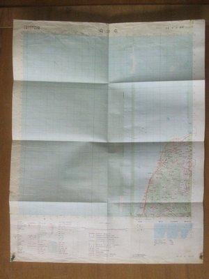 """86年~(聯勤)""""""""白沙屯""""""""相關圖(類似老地圖~73.3公分57公分(部分裂痕及貼膠帶)"""
