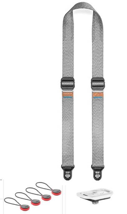 呈現攝影-Peak design 快裝相機背帶Slide Lite中號 (象牙灰) 小紅豆 小底版 單肩 斜肩 頸帶