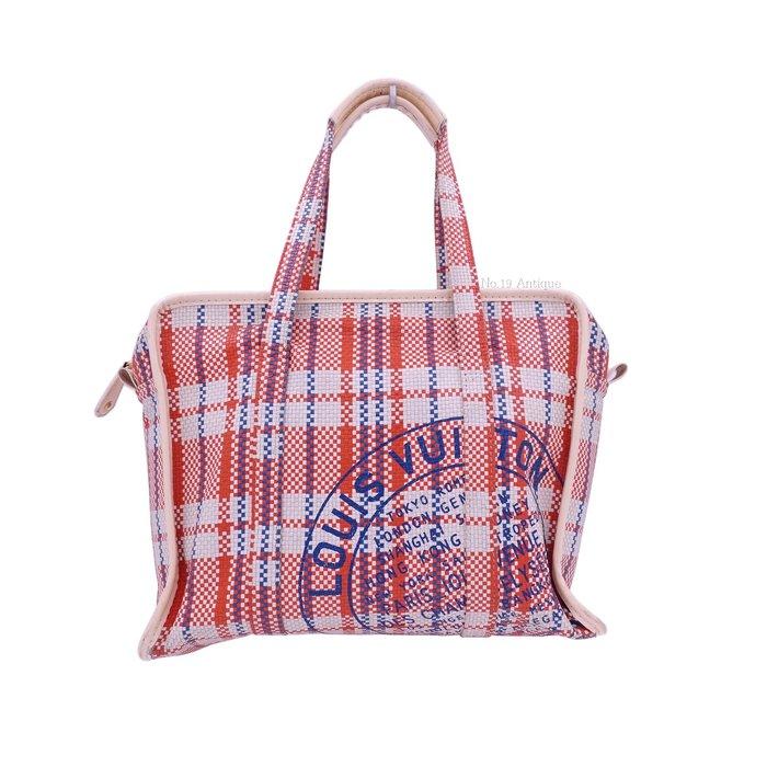 《十九號二手屋》LV 07 S/S春夏走秀款限量真皮編織手提包/旅行袋 Louis Vuitton 路易威登