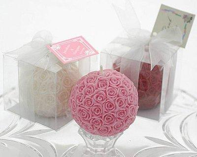 ☆命中注定☆ 玫瑰花球蠟燭,婚禮小物.二次進場