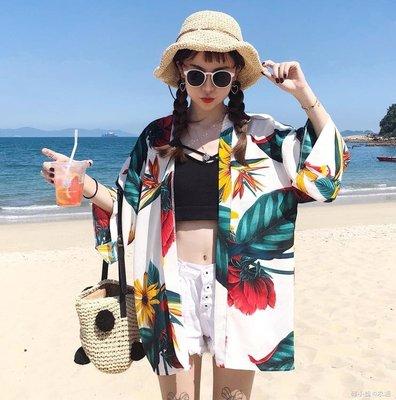 海邊防曬衣女沙灘防曬衫夏季外搭開衫上衣外套海灘度假衣服女泰國
