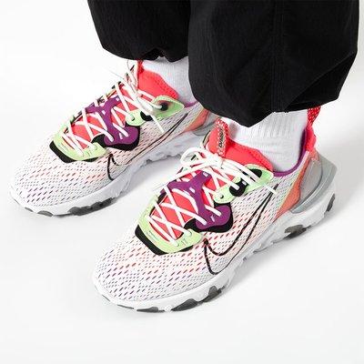 南◇2020 5月 Nike React Vision Barely Volt CD4373-102 慢跑 白桃紅銀色