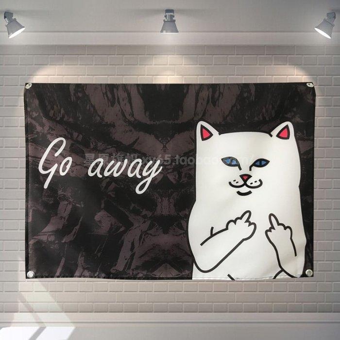 小賴的店--背景布ins掛布抖音墻飾酒吧裝飾宿舍背景布可愛賤貓網紅墻布
