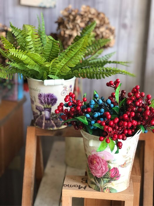 小水桶 白色 法式 鄉村風 北歐風 裝飾 佈置 婚禮 鐵皮 鐵桶 馬口鐵 花瓶 花器 批發 花木馬 雜貨 拍照 花園