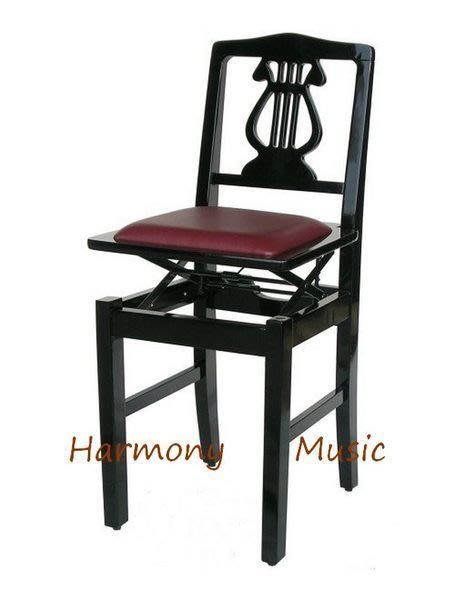 B66a∮有琴有藝@日本style全新靠背式鋼琴升降椅升降鋼琴椅電子琴椅豎琴椅台灣精製 精品