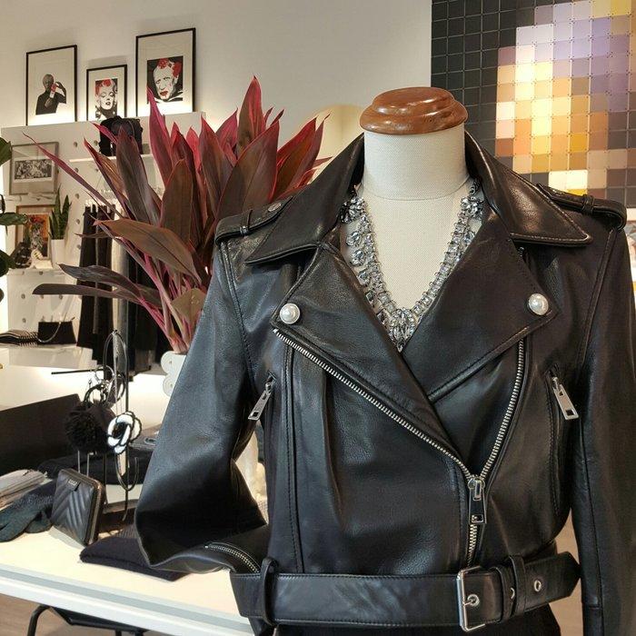 [ RainDaniel ] CLAUDIE PIERLOT 法國時尚品牌 經典短版皮外套