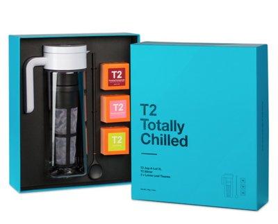 (預購)澳洲 T2 TEA 3盒茶葉+一個沖泡+一個攪拌勺 壺 禮盒 Totally Chilled
