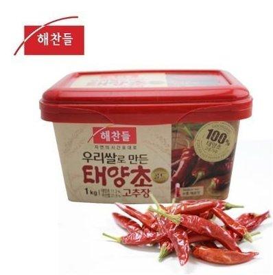 韓國原裝進口辣椒醬1000g ~~韓國辣椒醬/韓式辣椒醬~料理必備素食辣椒醬